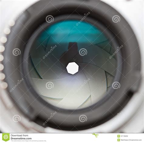 Lens Stop Only Stop Granmax Up lens aperture blades royalty free stock image