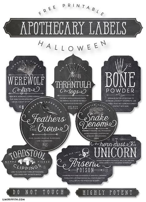 Printable Apothecary Labels | printable apothecary labels for halloween awesome this