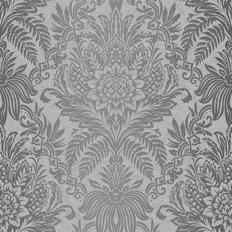 grey wallpaper b m signature damask wallpaper french grey wallpaper b m