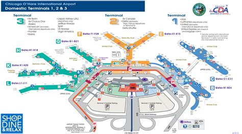 chicago airport map terminal 3 chicago o hare map my