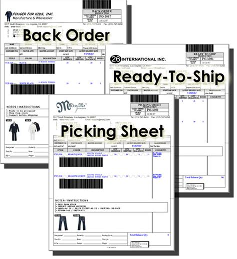 picking sheet mod2 inc office automation software for textile
