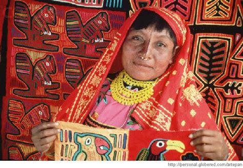 imagenes de mujeres kunas artesanias molas