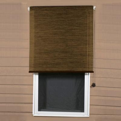 Bali Solar Blinds Coolaroo Sandalwood Exterior Roller Shade 92 Uv Block