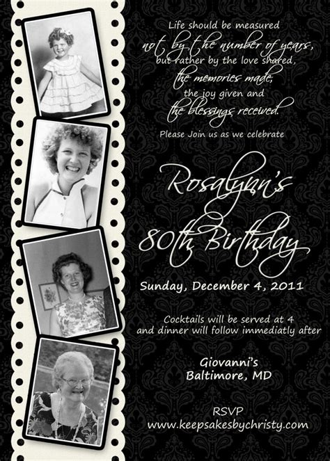 free 90th birthday invitation templates custom birthday invitation 10 95 usd via etsy my