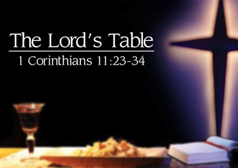 the lord s table communion
