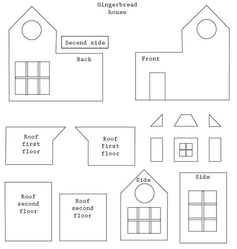 printable house template for 25 best ideas about gingerbread house template on