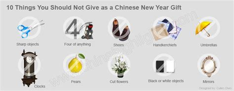10 things you should not give as a chinese new year gift