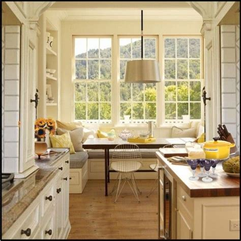 kitchen window seat for the home