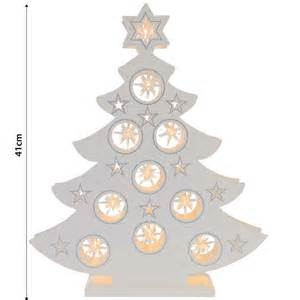 festive battery operated white wooden star design warm