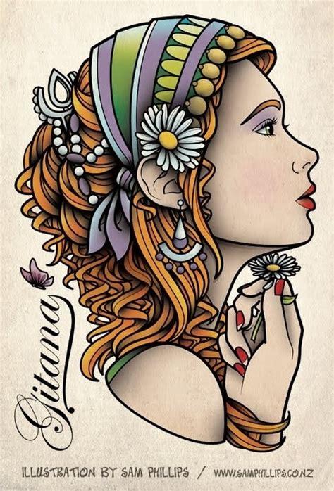 tattoo flash gypsy sam phillips tattoo flash tattoos pinterest sam