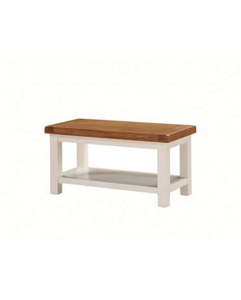 heritage small coffee table with shelf