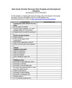 Disaster Recovery Checklist Template 9 disaster recovery plan exles free premium templates