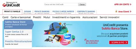 unicredit conti on line conto corrente unicredit