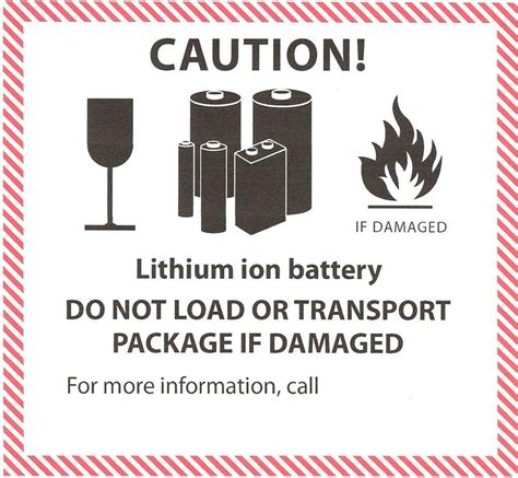 Un 3481 Aufkleber Download by Ion Lithium Ion Battery Handling Label