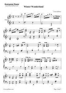 Winter wonderland lyrics and sheet music winter wonderland christmas