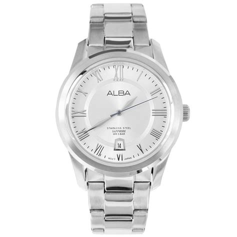 Alba As9293x1 Stainless Steel Mens Watches alba sapphire made by seiko silver mens axhl17x1 stuff to buy