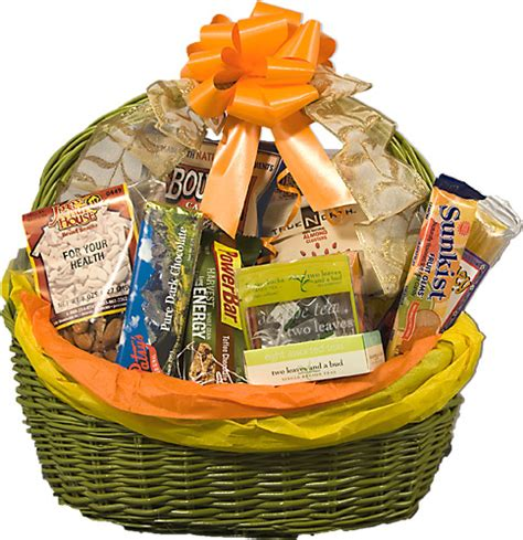 Food Gift Baskets - healthy get well gift basket