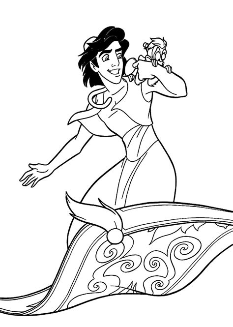 disney coloring pages aladdin free coloring pages of magic carpet