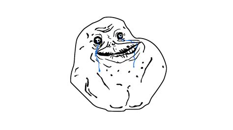Forever Alone Meme Face - how to draw forever alone meme draw central