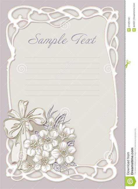 wedding invitation frame  flowers stock photography