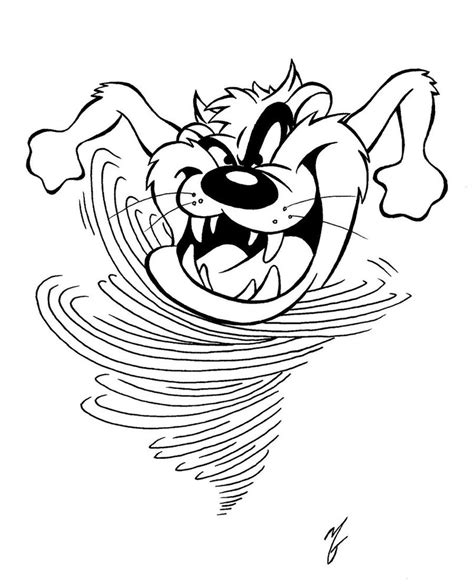 Tasmanian Devil Clipart Cliparts Co Tasmanian Looney Tunes Coloring Page