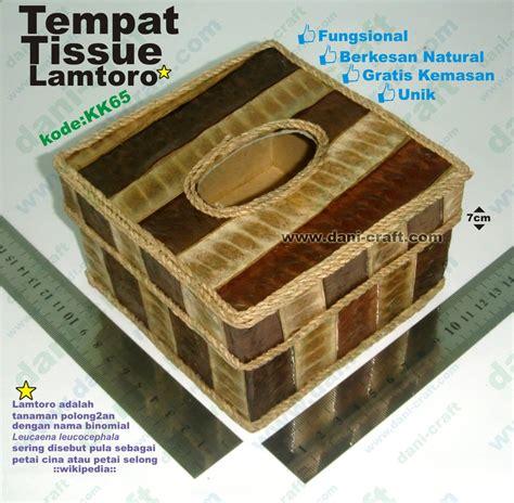 Tempat Tisu Tissue tempat tissue kotak bahan lamtoro souvenir pernikahan