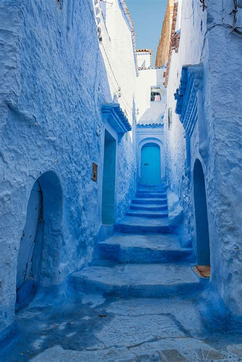 blue city morocco the old town walls of this moroccan city are covered in