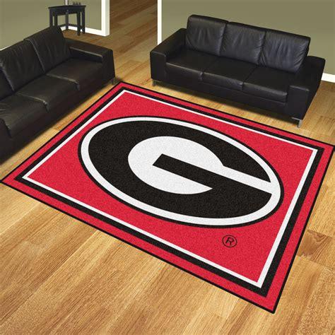 rugs ga of bulldogs area rug logo 8 x 10