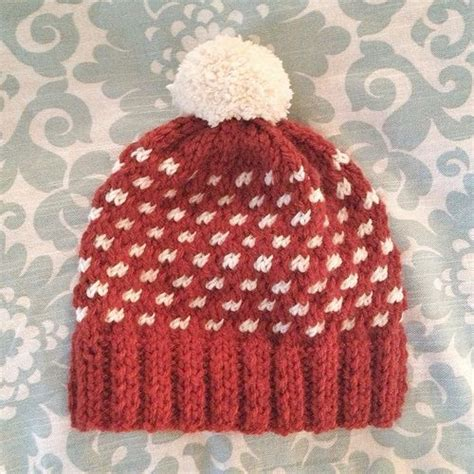 dot pattern knitting free knitted hat pattern hats pinterest bucky polka