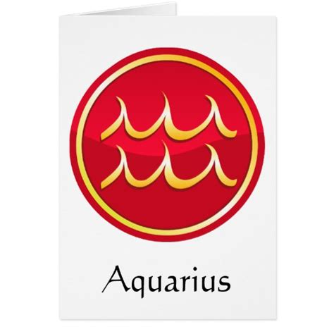 aquarius zodiac signs greeting card zazzle