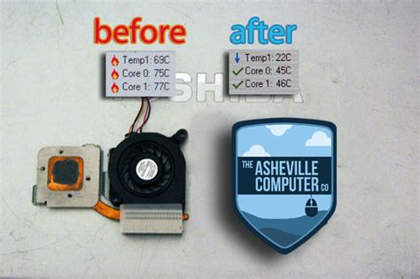 overheating toshiba laptop fan replacement asheville computer company repair and consulting