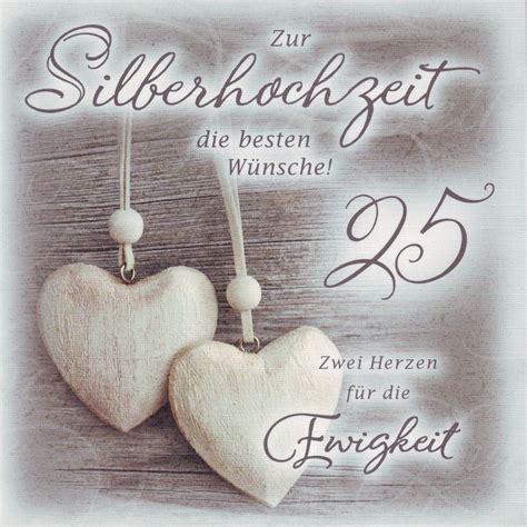Karten Zur Silberhochzeit by Gl 252 Ckwunschkarte Quot Zur Silberhochzeit Quot 4027421031259 Ebay