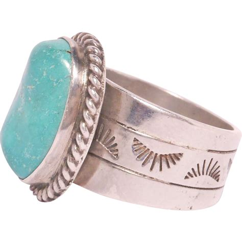 pretty turquoise silver ring 925 from