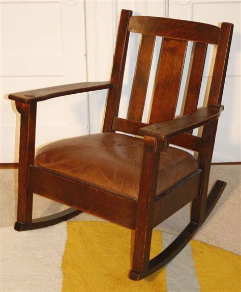 rocking chair antique genuine limbert arts crafts rocker rocking chair