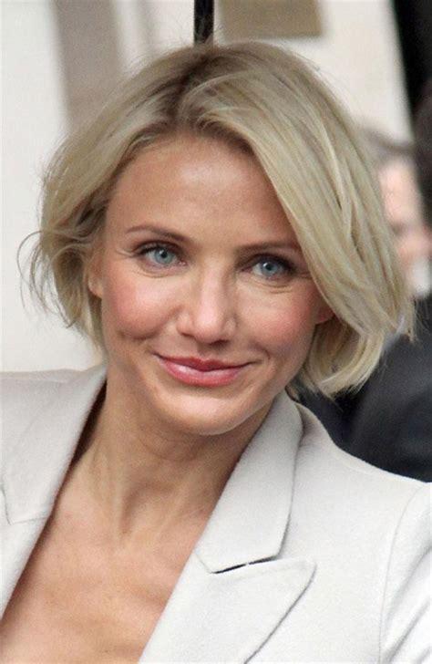 older actress short hair cameron diaz cried after getting hair cut celebrities
