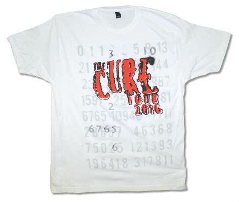 White T Shirt 2016 by The Cure Numbers Tour 2016 Mens White T Shirt New Official Ebay