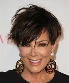 haircuts withheight on top kris jenner short straight hairstyle dark brunette
