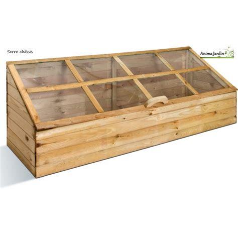 serre chassis de jardin serre de jardin en bois ch 226 ssis pour semer jardipolys pas cher