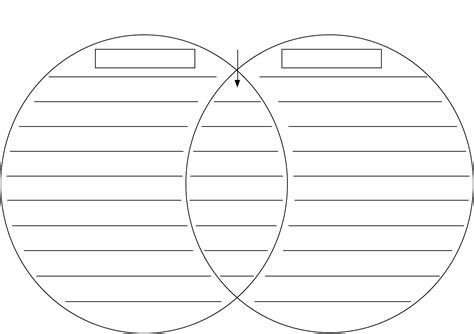 outline templates creating a venn diagram template