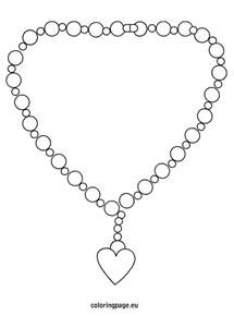 Necklace Coloring Pages free coloring pages of necklace