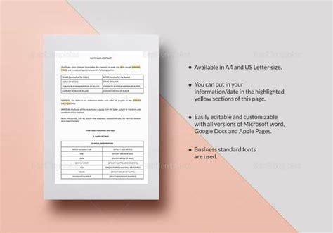 puppy sales contract sle puppy sales contract 9 exles in word pdf