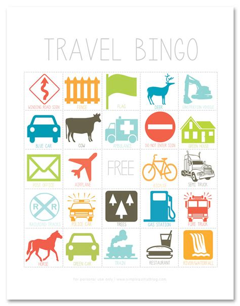 Printable Toddler Travel Games | road trip bingo free printable allfreekidscrafts com