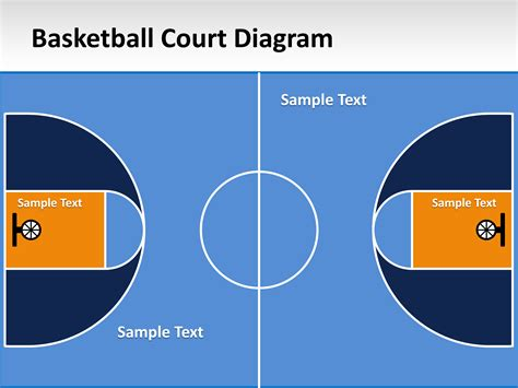 basketball court template free basketball court powerpoint template powerpoint