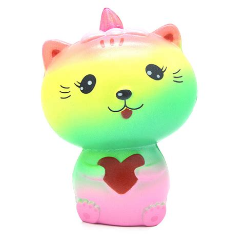 Rise Cat And Pinquin Squishy kiibru squishy rainbow cat 13 5cm soft rising original packaging collectio gift decor