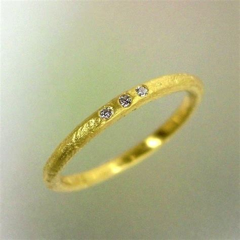 rustic wedding ring gold diamond band womens delicate