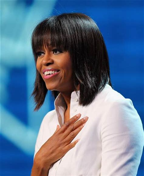 michelle obama hair michelle obama shows off lob haircut at white house event