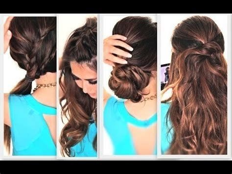 How To 6 Easy Lazy Summer Hairstyles Hair Tutorial Word W | 6 easy lazy summer hairstyles cute everyday hairstyle