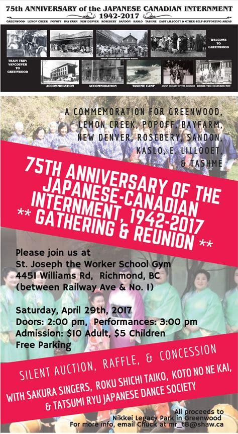 75th anniversary of the japanese canadian internment 1942