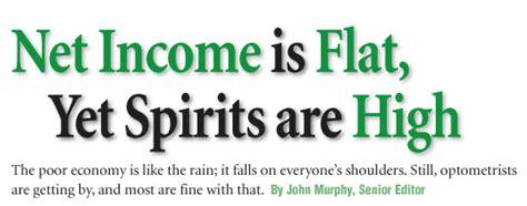 net income  flat  spirits  high