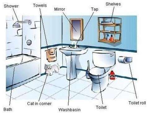 bathroom vocabulary with pictures level 2 ch 8 vocabulary the bathroom
